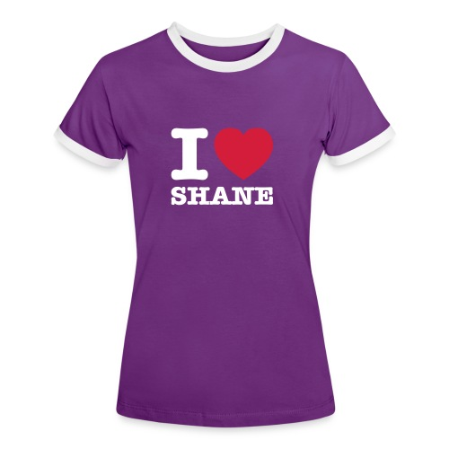 Lesben T-Shirt Shop: I ♥ SHANE - Frauen Kontrast-T-Shirt
