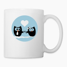 Valentine's Day Owls Bottles & Mugs
