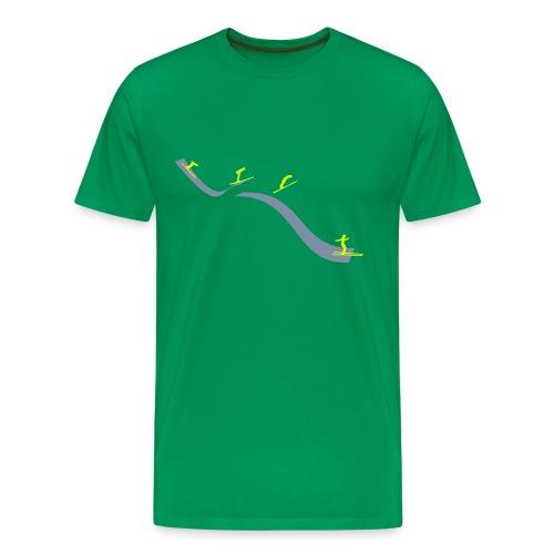 Ski jump stages - Men's Premium T-Shirt