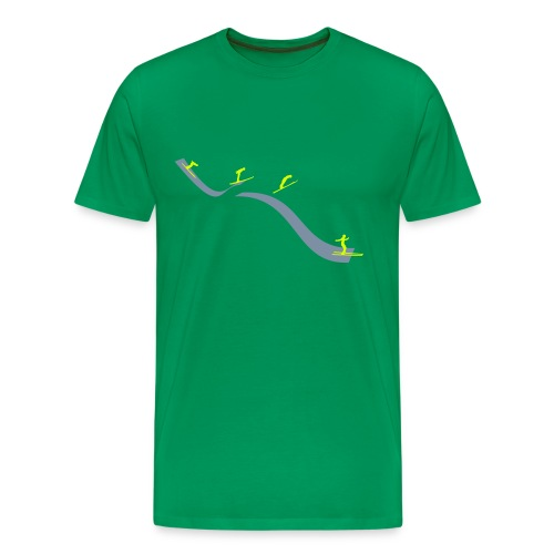 Ski jump stages - Men's Premium T-Shirt