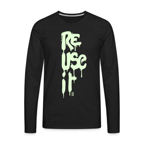 Phosphorescent ReUseit - T-shirt manches longues Premium Homme