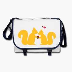 squirrels in love couple Bags & backpacks