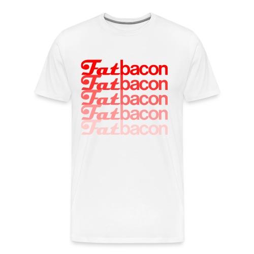 Fatbacon FadedBacon Tee! - Men's Premium T-Shirt