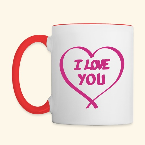 I Love you - Mug contrasté
