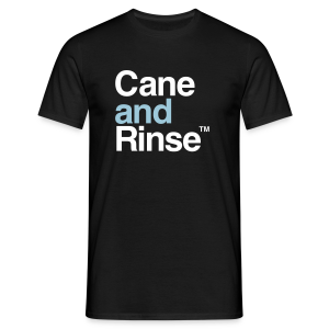 Cane and Rinse logo black T - Men's T-Shirt