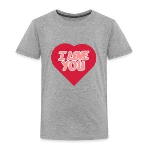 I love you  3 couleurs perso - T-shirt Premium Enfant