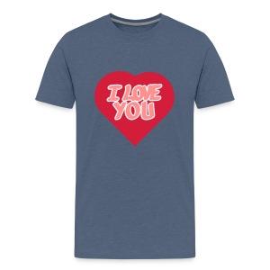 I love you  3 couleurs perso - T-shirt Premium Ado