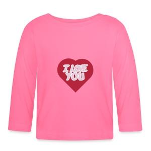 I love you  3 couleurs perso - T-shirt manches longues Bébé
