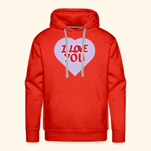 I love you  3 couleurs perso - Sweat-shirt à capuche Premium pour hommes
