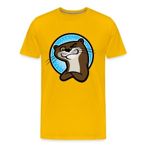 Otter Wink Blue Circle - Men's Premium T-Shirt