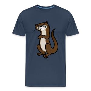 Otter Mens Tshirt - Men's Premium T-Shirt