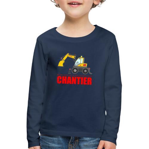 T-shirt manches longues premium enfant - chantier - T-shirt manches longues Premium Enfant