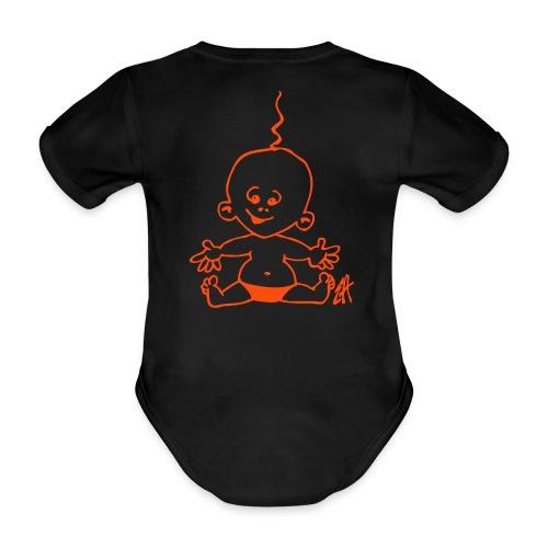 Babytrøje - Kortærmet babybody, økologisk bomuld
