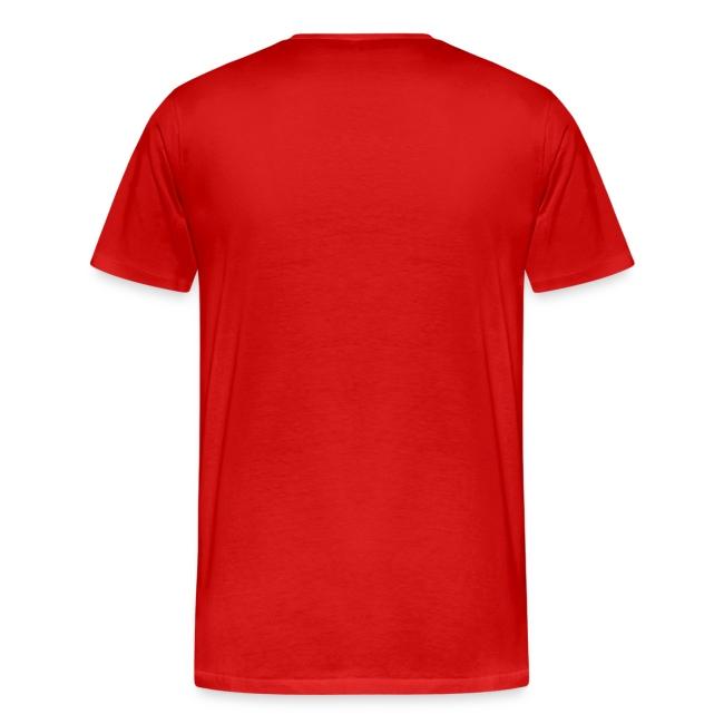 T-Shirt de homem Vermelho Enganado