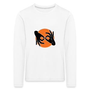 Deaf Interpreter black / orange - Kinder Premium Langarmshirt
