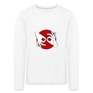 Deaf Interpreter white / red - Kinder Premium Langarmshirt