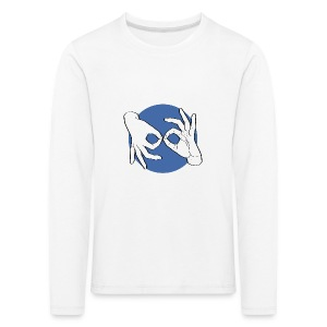 Deaf Interpreter white / blue - Kinder Premium Langarmshirt