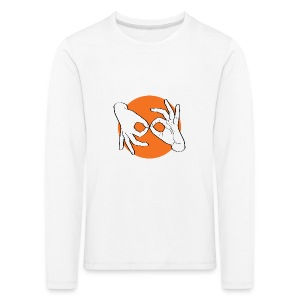 Deaf Interpreter white / orange - Kinder Premium Langarmshirt