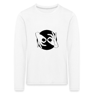 Deaf Interpreter white / black - Kinder Premium Langarmshirt