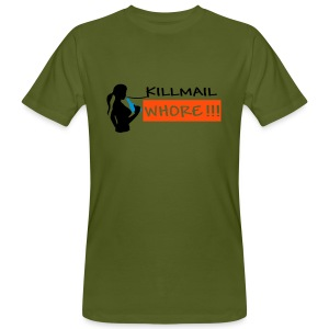 Killmail Whore, black-blue-orange - Männer Bio-T-Shirt