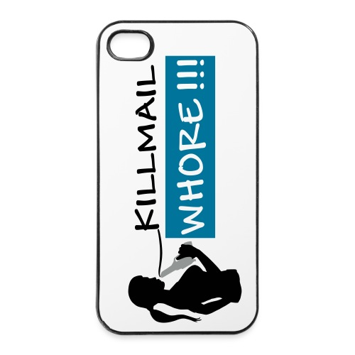 Killmail Whore, black-petrol-gray - iPhone 4/4s Hard Case