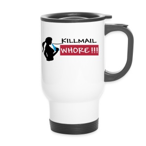 Killmail Whore, black-red-blue - Thermobecher
