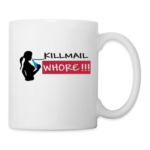 Killmail Whore, black-red-blue - Tasse