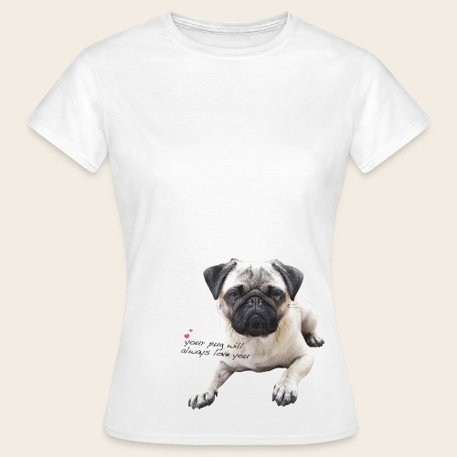 Mops Liebe T-Shirt - Frauen T-Shirt