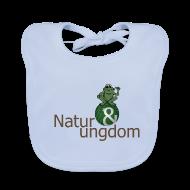 Baby hagesmække ~ Baby økologisk hagesmæk ~ Økologisk Baby t-shirt logo m. frø