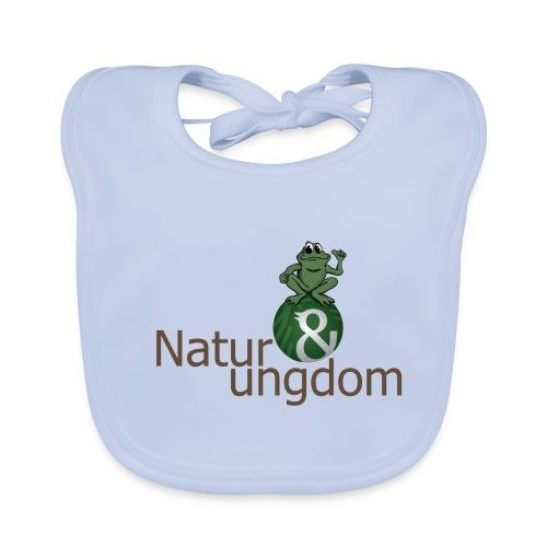 Økologisk Baby t-shirt logo m. frø - Baby økologisk hagesmæk