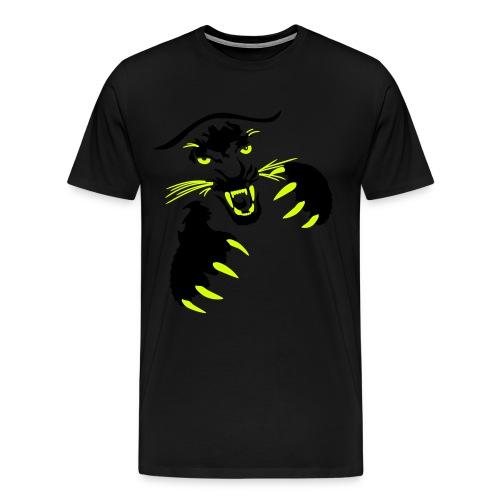 Black Tiger Pounce Premium T-Shirt Mens Medium  - Men's Premium T-Shirt