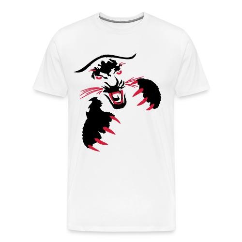 White Tiger Pounce Premium T-Shirt Mens Medium  - Men's Premium T-Shirt