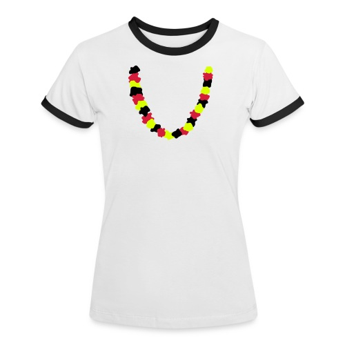Blumenkette Deutschland - Frauen Kontrast-T-Shirt