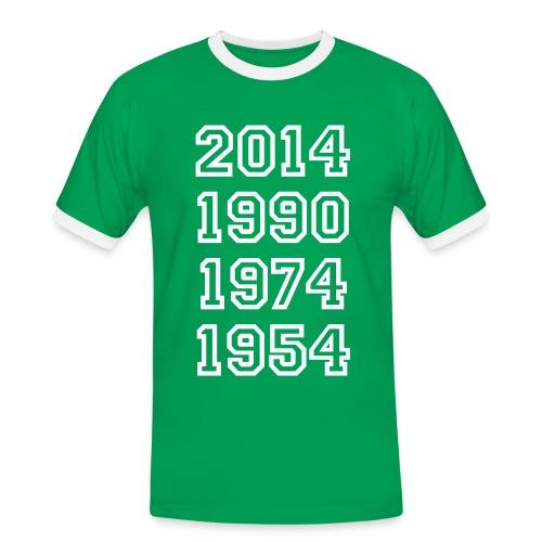 54, 74, 90, 2014 - Männer Kontrast-T-Shirt