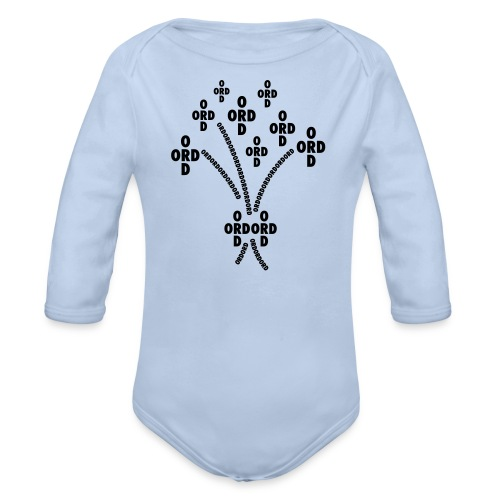 ORDBUKETT - Ekologisk långärmad babybody