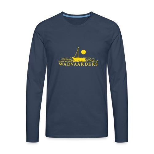 Premium shirt met lange mouwen/flock - Mannen Premium shirt met lange mouwen
