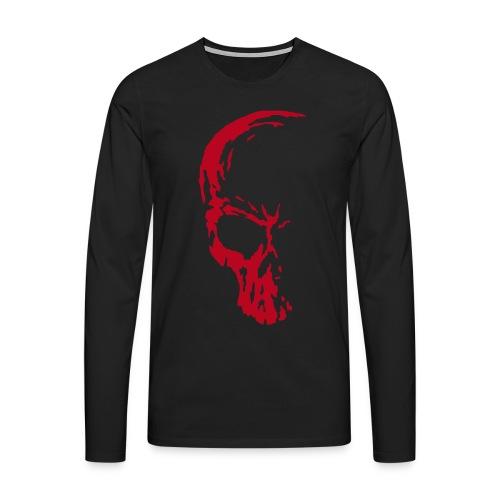 Long Sleeved Large Skull - Men's Premium Longsleeve Shirt