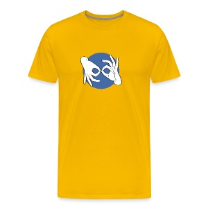 Deaf Interpreter white / blue - Männer Premium T-Shirt