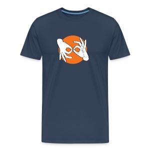 Deaf Interpreter white / orange - Männer Premium T-Shirt