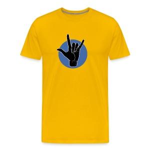 Fingeralphabet ILY black / blue - Männer Premium T-Shirt