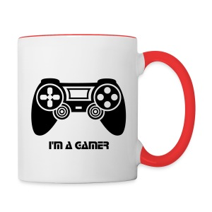 PS4 i'm a gamer - Tasse bicolore