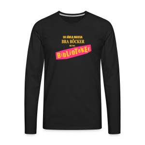 BIBLIOTEKET - Långärmad premium-T-shirt herr