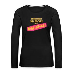 BIBLIOTEKET - Långärmad premium-T-shirt dam