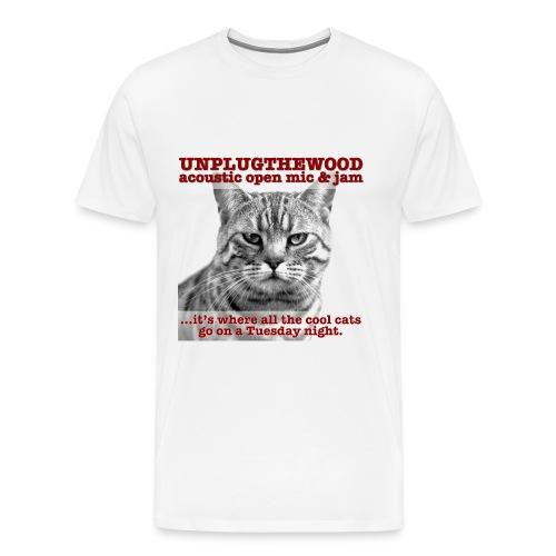 UnplugTheWood Cat - Men's Premium T-Shirt