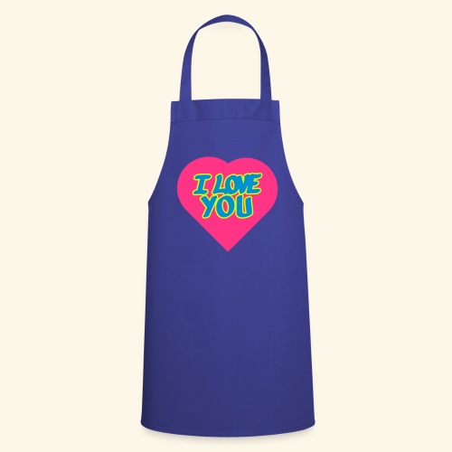 I love you  3 couleurs perso - Tablier de cuisine