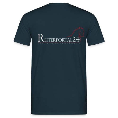 Reiterportal24 Männer T-Shirt navy - Männer T-Shirt