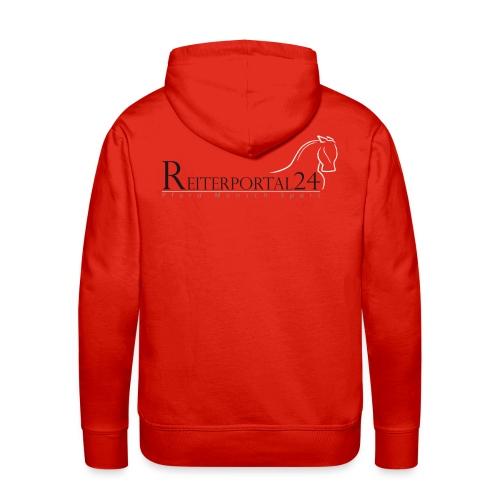 Reiterportal24 Männer Kapuzenpullover rot - Männer Premium Hoodie