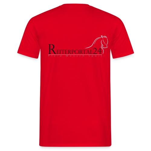 Reiterportal24 Männer T-Shirt rot - Männer T-Shirt