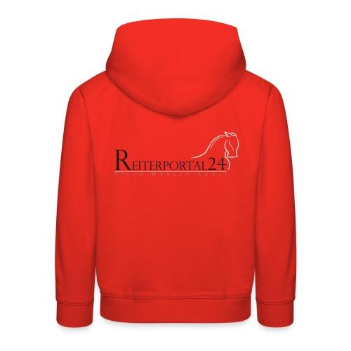 Reiterportal24 Kinder Kapuzenpullover rot - Kinder Premium Hoodie