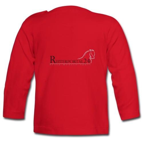 Reiterportal24 Baby Langarmshirt rot - Baby Langarmshirt